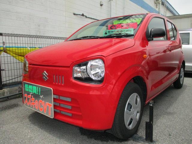 沖縄の中古車 スズキ アルト 車両価格 79万円 リ済別 2020(令和2)年 0.3万km ピュアレッド