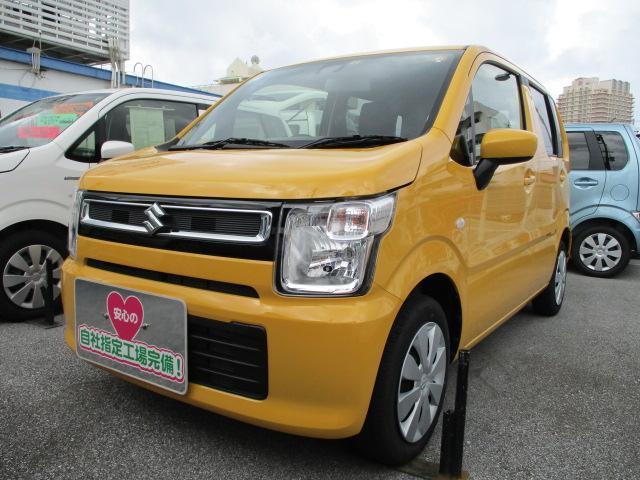 沖縄の中古車 スズキ ワゴンR 車両価格 94万円 リ済別 2020(令和2)年 0.6万km アクティブイエロー