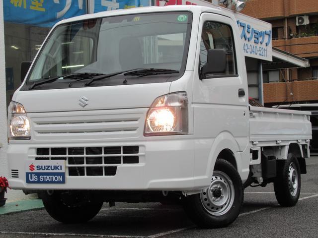 スズキ キャリイトラック KCエアコンパワステ 4型 5MT ラジオプレイヤー 4WD