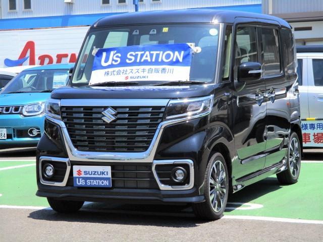 スズキ スペーシアカスタム カスタム HYBRID XS 2型  自動軽減ブレーキ