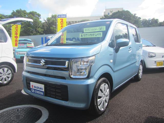 沖縄の中古車 スズキ ワゴンR 車両価格 108万円 リ済別 2020(令和2)年 0.6万km フィズブルーパールメタリック