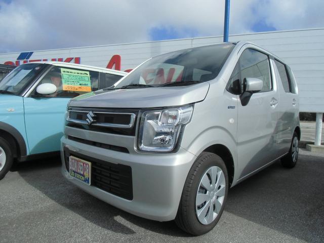 沖縄の中古車 スズキ ワゴンR 車両価格 106万円 リ済別 2020(令和2)年 0.7万km シルキーシルバーメタリック