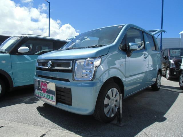 沖縄の中古車 スズキ ワゴンR 車両価格 105万円 リ済別 2020(令和2)年 1.0万km フィズブルーパールメタリック(内装色変更)