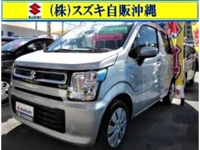 沖縄の中古車 スズキ ワゴンR 車両価格 107万円 リ済別 2020(令和2)年 0.8万km シルキーシルバーメタリック