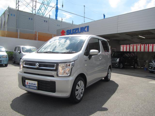 沖縄の中古車 スズキ ワゴンR 車両価格 107万円 リ済別 2020(令和2)年 0.5万km シルキーシルバーメタリック