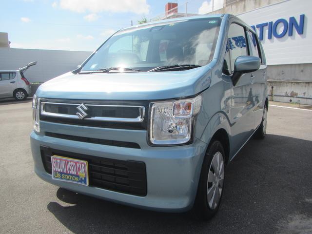 沖縄の中古車 スズキ ワゴンR 車両価格 98万円 リ済別 2020(令和2)年 1.4万km フィズブルーパールメタリック
