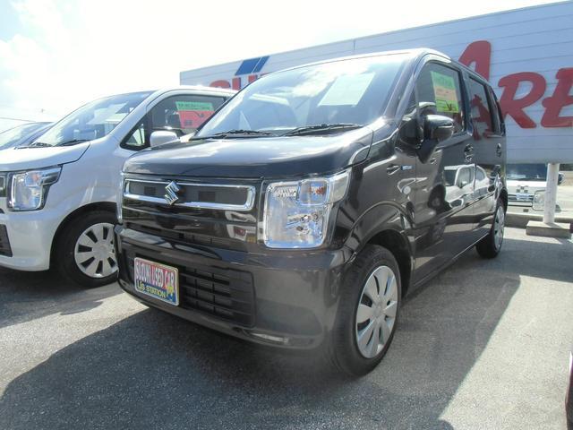 沖縄の中古車 スズキ ワゴンR 車両価格 110万円 リ済別 2020(令和2)年 0.8万km アーバンブラウンパールメタリック