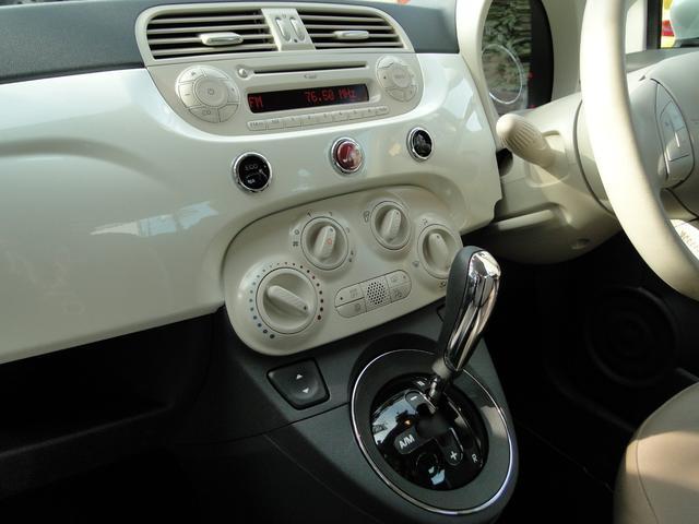 フィアット フィアット 500 ペコレッラ限定車 本革シート パールホワイト