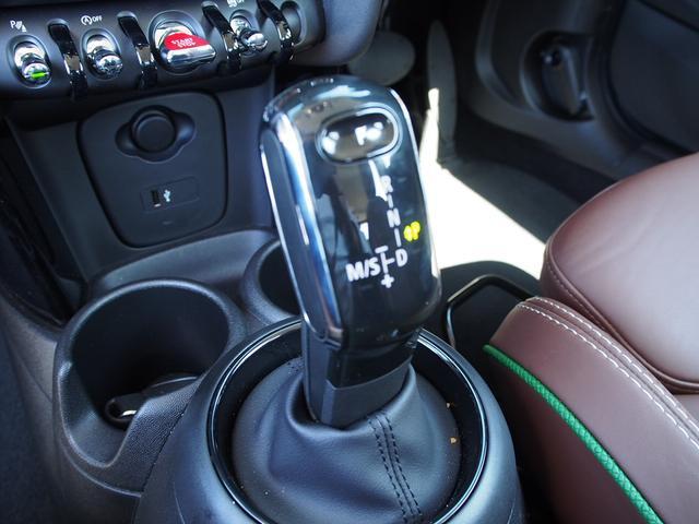 クーパー 3ドア 60周年限定車 専用ダークマロンレザーシート 専用レザーステアリング シートヒーター LEDライトパッケージ ペッパー クルコン 安全装備(13枚目)
