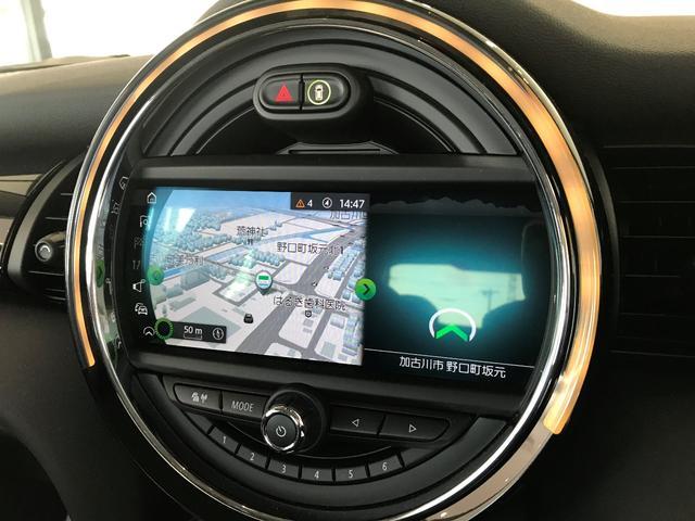 クーパーD 弊社デモカー ペッパーPKG カメラPKG コンフォートアクセス 前後障害物センサー リアカメラ LEDヘッドライト 純正HDDタッチナビ ETC車載器 15インチAW(35枚目)