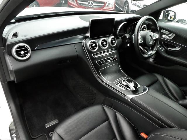 C220dアバンギャルド AMGライン 1年保証付/170項目 正規D車 黒革 純正ナビ地デジBカメラETC LEDライト レーダーセーフティーPKG(17枚目)