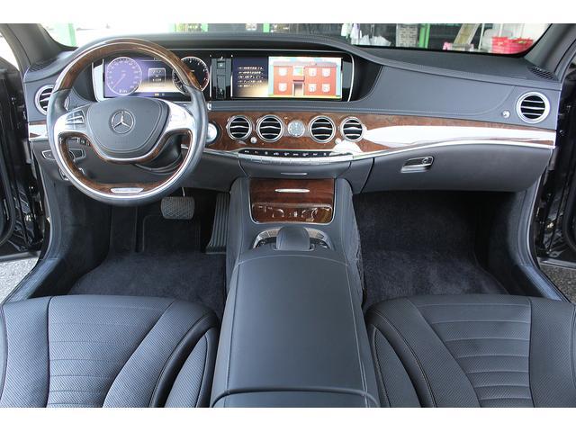 S550ロング 後期WALDカスタム Black Bison ジャレット22インチホイール 新品パーツ オレンジゴールドキャリパー パノラミックスライディングルーフ 黒本革シート レーダーセーフティ ブルメスター(11枚目)