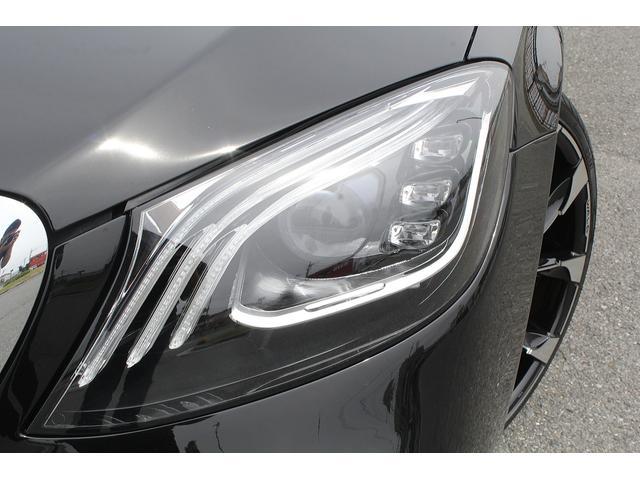 S550ロング 後期WALDカスタム Black Bison ジャレット22インチホイール 新品パーツ オレンジゴールドキャリパー パノラミックスライディングルーフ 黒本革シート レーダーセーフティ ブルメスター(22枚目)