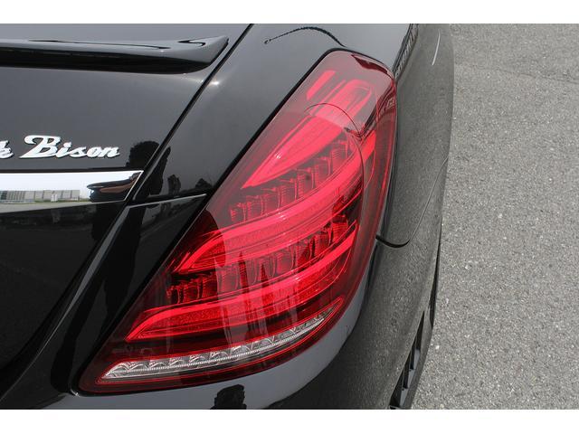 S550ロング 後期WALDカスタム Black Bison ジャレット22インチホイール 新品パーツ オレンジゴールドキャリパー パノラミックスライディングルーフ 黒本革シート レーダーセーフティ ブルメスター(24枚目)