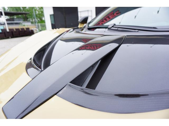 N-LARGOカーボンボンネットを装着。