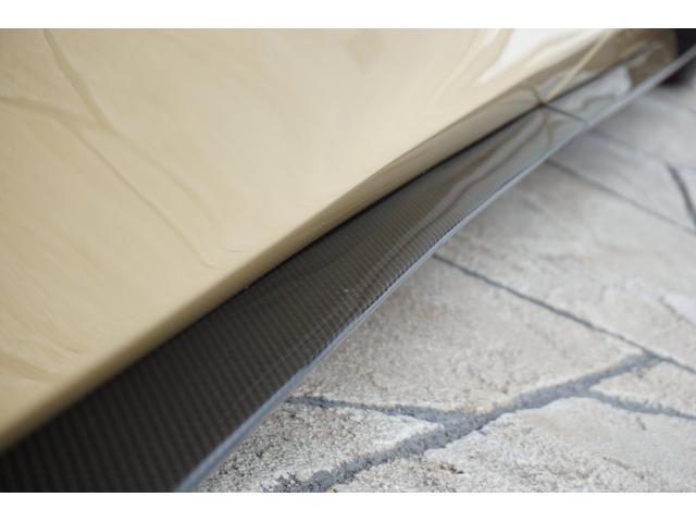 サイドステップにもカーボンパネルが使用されています。