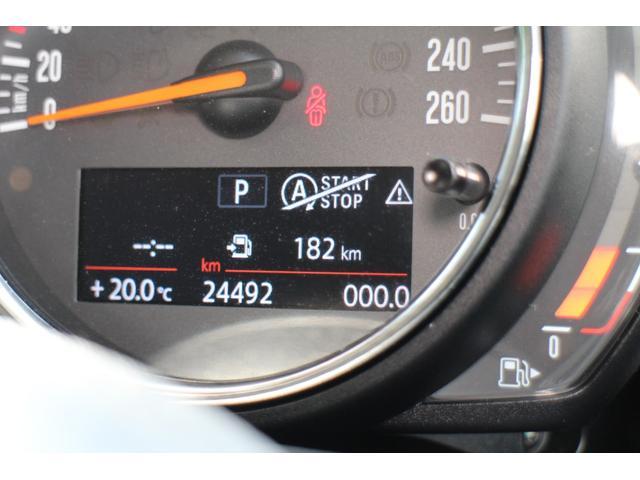 クーパーD ナビ ペッパーPKG Cアクセス Bカメラ+PDC BJミラーキャップ LEDヘッドライト ルーフキャリア オートライト レインセンサー ルーフBJステッカー(色あせ有)(23枚目)