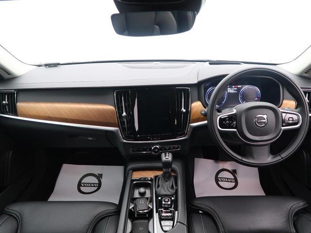 現行型プレミアムエステート、V90のディーゼルモデル上級グレードを1オーナーの買取直販にて認定中古車でご紹介!上質なベンチレーション付きファインナッパレザー、プレミアムサウンドを特別装備しています!