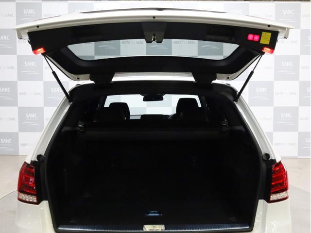 E250 ステーションワゴン アバンギャルド 1オーナー禁煙 ディーラー記録簿 純正ナビ フルセグTV Bカメラ ステアリングアシスト付きアダプティブクルーズコントロール AMG18AW AMG18インチホイール 大型ブレーキ 電動リアゲート(75枚目)