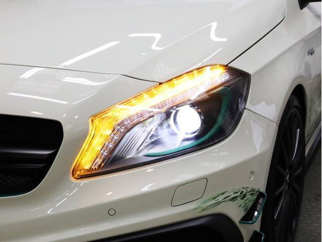 A45AMG4マチックペトロナスグリーンエディション 禁煙 30台限定車 専用エアロ 19AW 大径ブレーキ 専用内装 アルカンタラステアリングホイール AMGスポーツシート 大型シフトパドル 純正ナビTV アダプティブクルーズコントロール バックカメラ(78枚目)