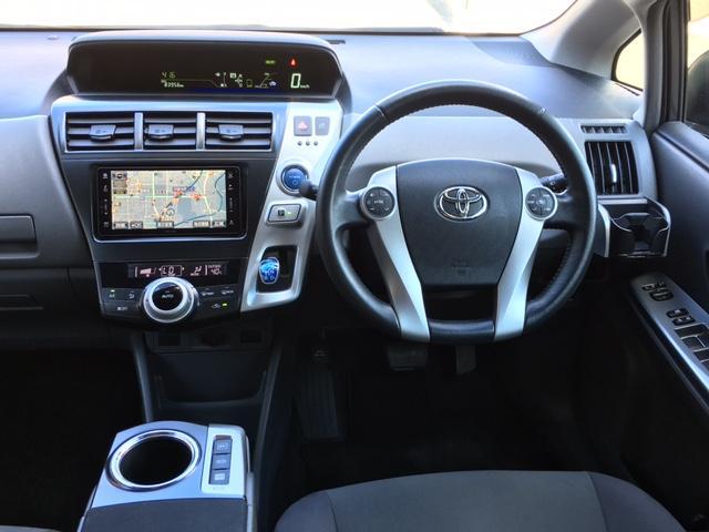 トヨタ プリウスアルファ Sツーリングセレクション HDDナビ LEDヘッドライト