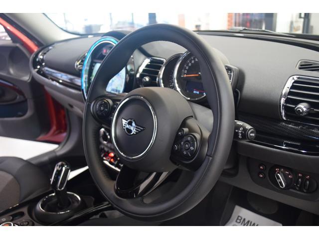 クーパーD クラブマン 弊社デモカー バックカメラ スマートキー 衝突被害軽減ブレーキ アクティブクルーズコントロール 純正タッチ式ナビ ユニオンジャックテールランプ LEDヘッドライト Bluetooth接続機能(15枚目)