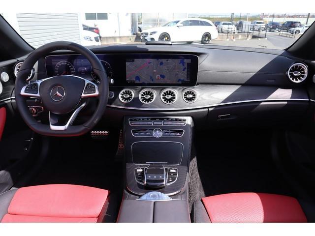 E400 4マチック クーペ スポーツ エクスクルーシブパッケージ 赤黒コンビレザー ヘッドアップディスプレイ ブルメスターサウンド 黒幌 認定中古車2年保証(25枚目)