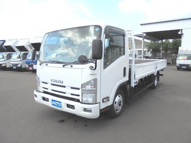 いすゞ エルフトラック ロング ワイド 超ロング 高床 ディーゼルターボ 積載2000kg 三方開 荷台内寸約498×207