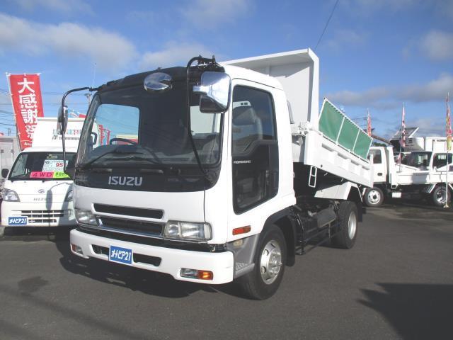 いすゞ  積載3850kgダンプ 電動コボレーン付 ベッドレス 車両総重量7965kg 中型車