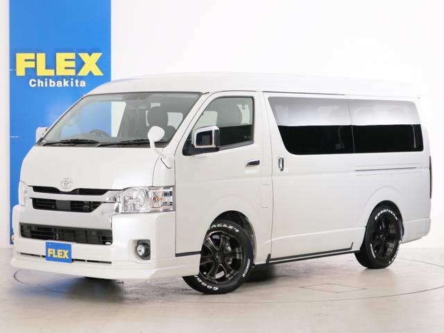 トヨタ GL FLEXシートアレンジVer2フラットベット仕様FLEXバルベロ17AWスポイラーカロッツェリアSDナビリアフリップダウンモニター&ETC2.0搭載
