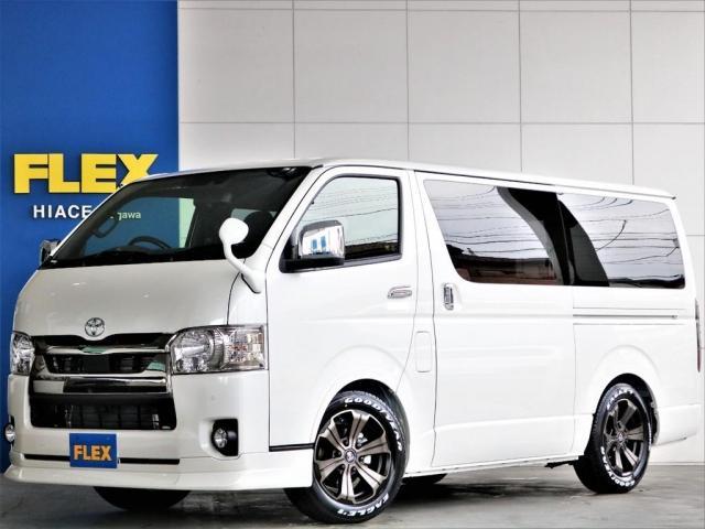 トヨタ スーパーGL ダークプライムII ガソリン2WD FLEXカスタム 両側オートスライドドア パノラミックビューモニター デジタルインナーミラー クリアランスソナー ローダウン アルミホイール