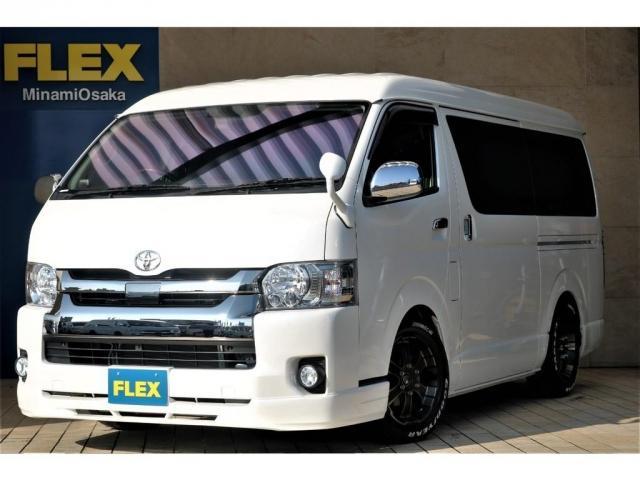 トヨタ スーパーGL ダークプライム FLEXCUSTOM 買取直販ワンオーナー シートアレンジ済み ツインモニター付き