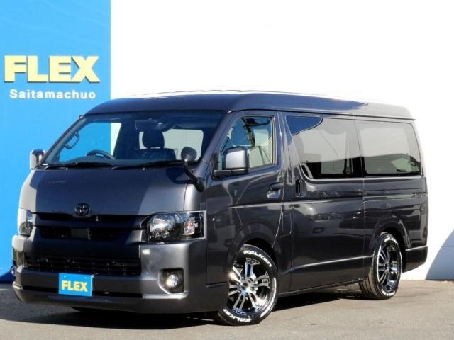 トヨタ スーパーGL ダークプライムIIワイド ロングボディ 新型PVM付 両側自動ドア