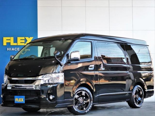 トヨタ  GL ロング FLEXカスタム パノラミックビュー デジタルインナーミラー トヨタセーフティーセンス クリアランスソナー 自動ドア スマートキー LEDヘッドライト ナビ 後席モニター