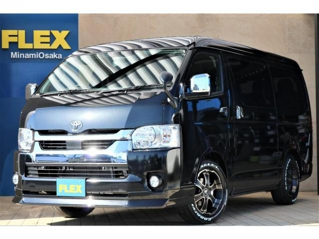 トヨタ GL パーキングサポート FLEXベッドキットシートアレンジ ダブルモニター フローリング施工 Fスポイラー FLEX17インチAW ナスカータイヤ 1インチローダウン