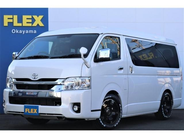 トヨタ ハイエースワゴン  FLEXオリジナル内装架装VER.1.5 新型ワゴンGL ガソリン 2WD トヨタセーフティセンス メーカーフルオプション ナビ フリップダウンモニター バックカメラ ETC デジタルインナーミラー