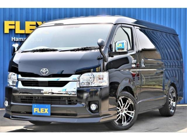 トヨタ GL ロング FLEX内装架装Ver1.5 PVM全方位カメラ デジタルインナーミラー クリアランスソナー 2インチローダウン FLEXスポイラー FLEXDelf02ホイール TOYOタイヤ ナビ フリップ