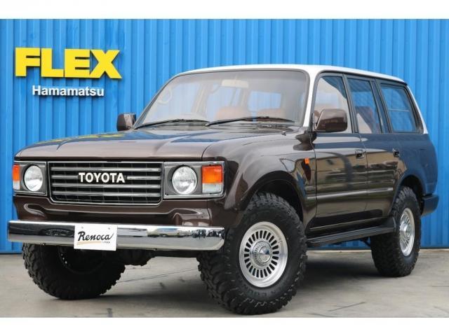 トヨタ ランドクルーザー80 VXリミテッド 丸目換装 Wonder 後期型ディーゼルターボ 新品DEANカリフォルニア16インチAW TOYOオープンカントリータイヤ キャメルシートカバー