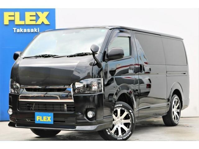 トヨタ ロングDX GLパッケージ 5型 ガソリン 2WD ブラック トヨタセーフティセンス LEDヘッドライト バックカメラ付防眩ミラー ドライブレコーダー リアクーラー ジャストロー 1年間走行無制限保証付 追加カスタムオーダーOK