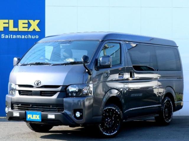 トヨタ スーパーGL ダークプライムII オフロードパッケージ ブラックED BIG-X11インチ自動ドア