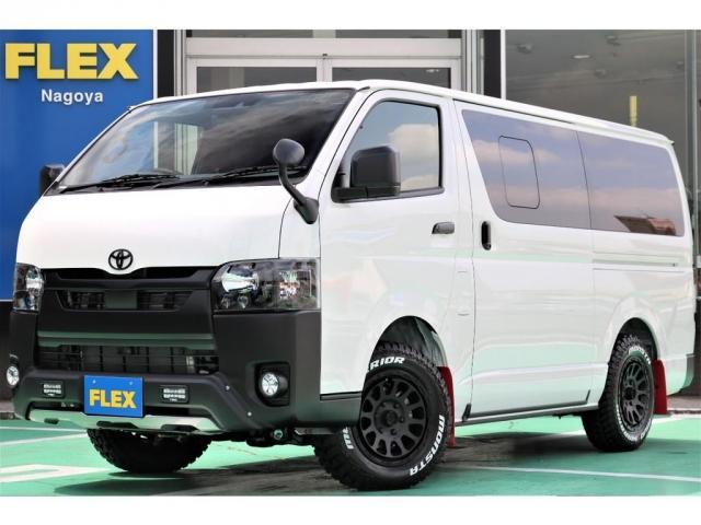 トヨタ  ダークプライムII TRDバンパーマッドフラップDX仕様/ヘッドライトインナーブラック/前後バンパーつや消しブラック/デルタフォース16インチ/モンスターマッドタイヤ/SDフルセグナビ/TEC