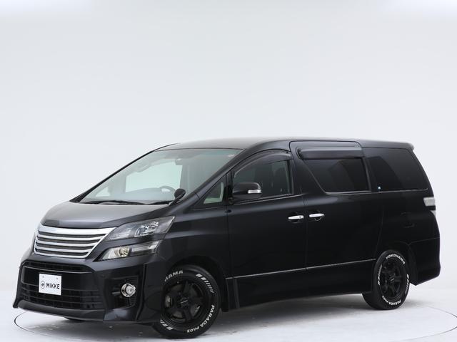 トヨタ 2.4Z ゴールデンアイズ ワンオーナー/禁煙/ビッグXナビ/フリップダウンモニター/両側自働ドア/電動バックドア/ドライブレコーダー/KEELERアルミ/PARADAタイヤ