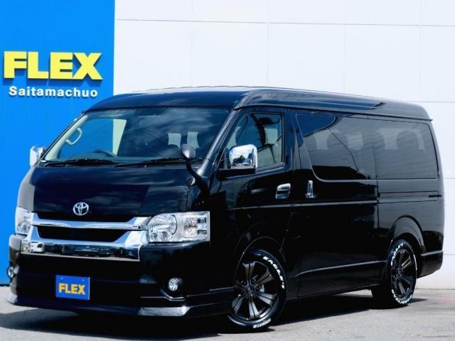 トヨタ GL FLEXオリジナル車中泊仕様/Ver1 BIG-X11フローティングナビインチナビ/フリップダウンモニター Wゾーン対応 パノラミックビューモニター オートマチックハイビーム 38mmローダウン