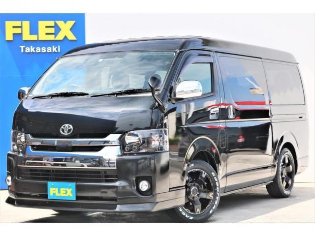 トヨタ GL 5型 ブラック LEDヘッドライト フロントスポイラー 17インチAW LEDテールランプ バックカメラ ドアバイザー シートカバー ETC SDナビ