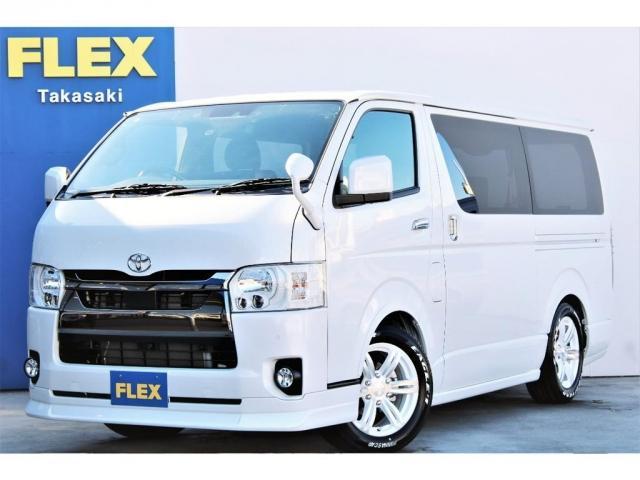 トヨタ スーパーGL ダークプライムII 2WD ガソリン 6型 フロントスポイラー オーバーフェンダー 17インチAW ヘッドライト(070) ミラーカバー(070) テールランプ SDナビ ビルトインETC