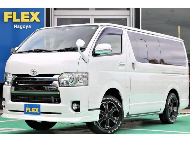 トヨタ スーパーGL ダークプライム FLEXORIGINAL内装架装/Ver4床張りベットキット/フルセグナビ/ETC/フリップダウンモニター/17インチアルミ/ナスカータイヤ