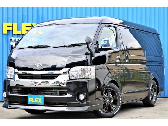 トヨタ スーパーGL ダークプライムIIワイド ロングボディ FLEXオリジナルカスタム車両 FLEXフロントスポイラー FLEXホイールW-DEEPS グッドイヤーナスカータイヤ ローダウン施工済み ナビBluetooth付 ETC PVM全方位カメラ