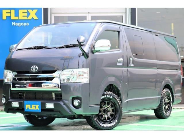 トヨタ ハイエースバン ロングスーパーGL 5型/ディーゼル/4WD/TSS付/LEDヘッドライト/WEDSADVENTUREMUDVANCE0616インチ/FLEXオリジナル TYPE2ベッドキッド/7インチナビ/ETC