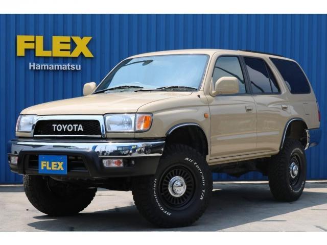 トヨタ ハイラックスサーフ SSR-X ベージュオールP 2インチリフトUP