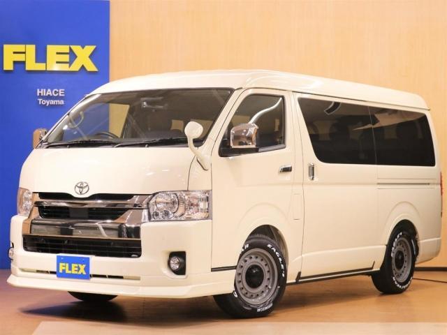 トヨタ GL FLEXオリジナル内装Ver.1デニム/ローダウン/新品16インチAW/ナスカータイヤ/特装カラー/オーバーフェンダー/ガッツミラー同色塗装/PVM連動/ナビ&ETC/リップスポイラー
